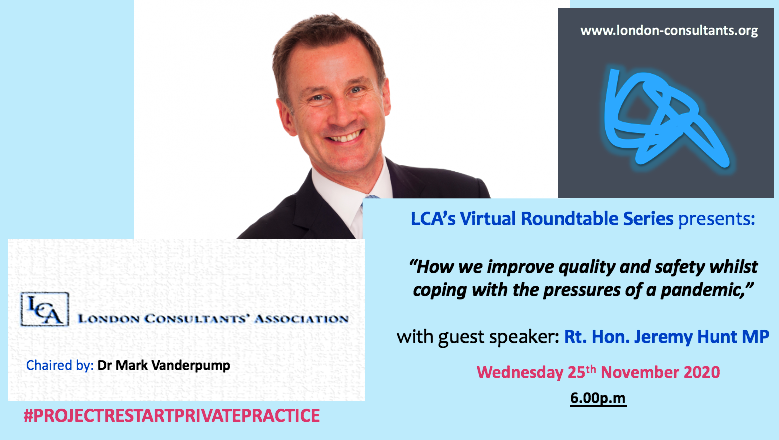 LCA Virtual Roundtables – Rt. Hon. Jeremy Hunt MP