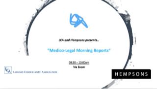 Medico-Legal Morning Report – New!